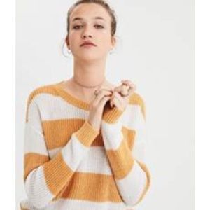 American Eagle | AE Striped Rugby Pullover Sweater